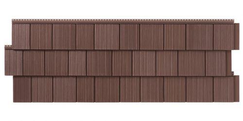 Фасадные панели Foundry Фактурная дранка - Шоколад