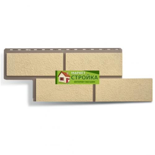 Фасадные панели Альта-Профиль Неаполитанский камень - Слоновая кость