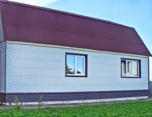Фасадные панели ImaBel, коллекция Кирпич - цвета Айсберг и Кофе