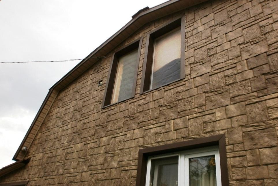 Немецкие фасадные панели Wandstein от компании Holzplast