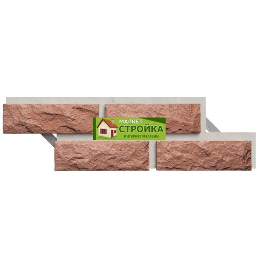 Фасадная плитка Каньон Сколотый кирпич