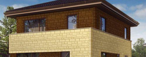 Фасадные панели Canada Ridge Коричневый и Кремовый