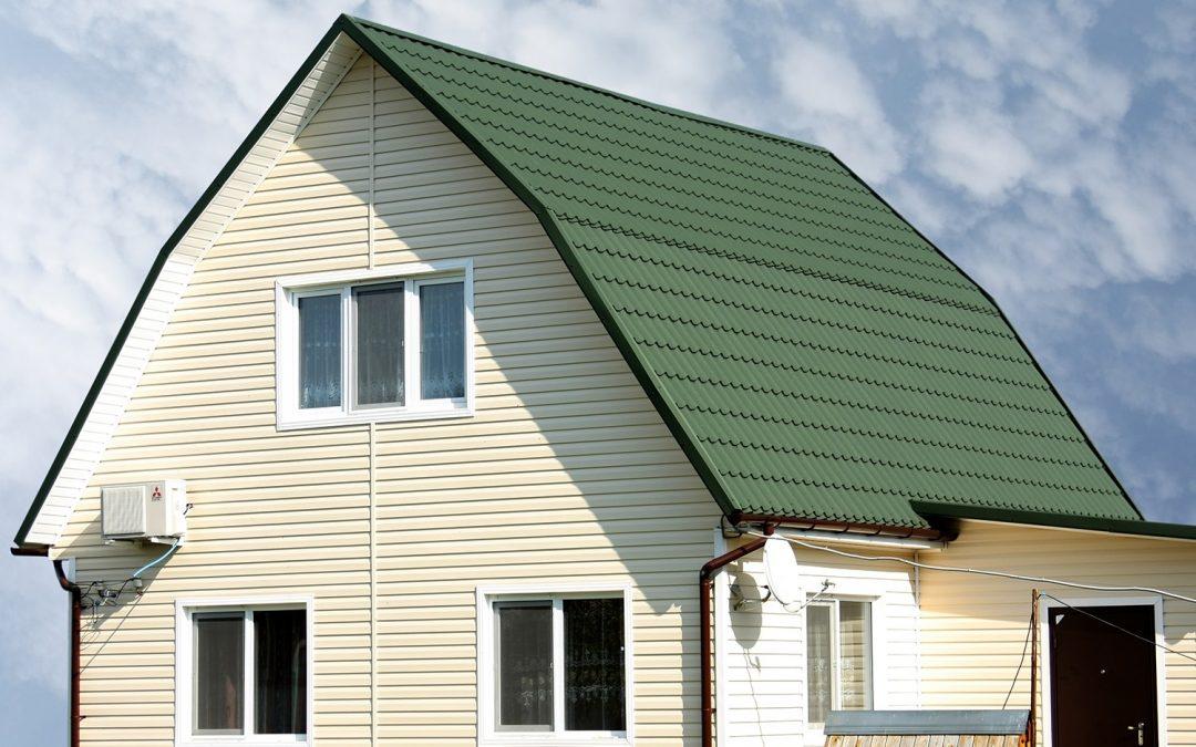 Какой цвет сайдинга подойдет к зеленой крыше?