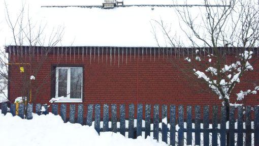 Отделка фасада сайдингом Ю-пласт Стоун-Хаус Кирпич Красный